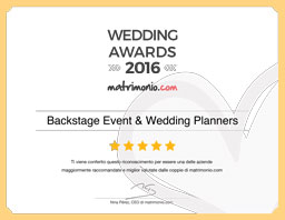 Eventi e matrimoni Backstage Wedding Awards 2016
